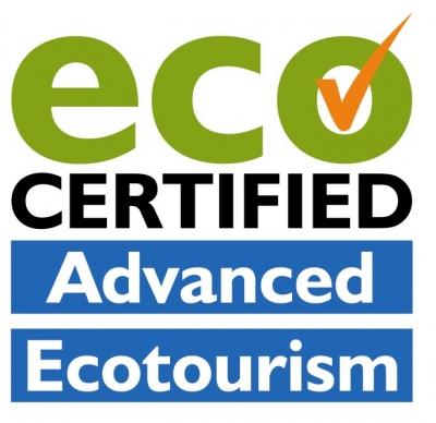logo for advanced ecotourism accreditation for bat visitor centre